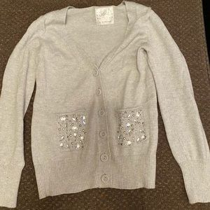 Justice Silver gems sweater